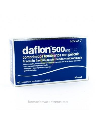 DAFLON 500 MG 60 COMPRIMIDOS RECUBIERTOS