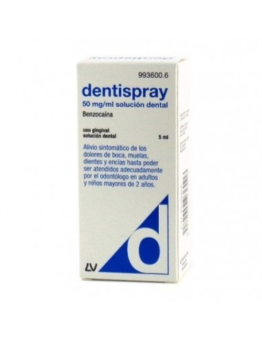 DENTISPRAY 50 MG/ML AEROSOL BUCAL...